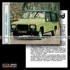 ★ RENAULT (4 & 6) RODEO 1974 ★ Fiche Auto / Autocard #29