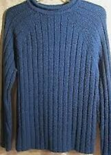 Womens Blue Sweater Marbled Ribbed Size XL Carolyn Taylor