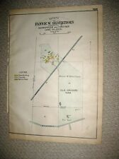 ANTIQUE 1915 PAINESVILLE CONCORD SILVERTHORN FARM LAKE COUNTY OHIO HANDCOLOR MAP