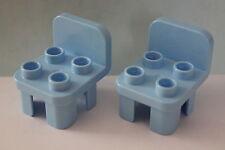 LEGO DUPLO 5639 10505 10835 Familienhaus 2 Stück Stühle hellblau neue Form NEU