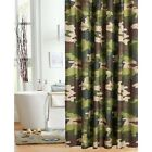 Camo Green Shower Curtain Woodland Print Polyester Adults and Children Bathroom