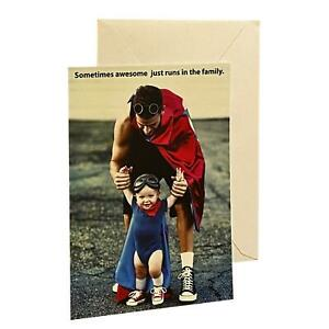 Father's Day Greeting Card - Sometimes awesome just runs in the family. - , with