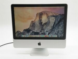 "Apple iMac 20"" 2007 Core 2 Duo 2.4GHZ 4GB 320GB OS X 10.10 MA877LL PC Silver"
