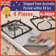 4PCS Reusable Stove Clean Mat Aluminum Foil Gas Oil Protector Liner Burner Cover