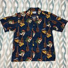 Hawaii Men's Hawaiian Button Down Short Sleeve Shirt Size L Large