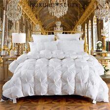 3D Luxury 100% Goose Down Duvet Quilted Quilt King Queen Full Size Comforter Hot