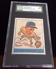 CHARLEY GEHRINGER 1973 TOPPS REPRINT Autographed Signed Baseball Card SGC 241