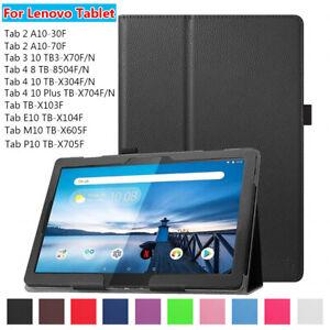 "Ultra Slim Leather Case Tablet Cover Smart For Lenovo Tab 3 4 E10 P10 10.1"""