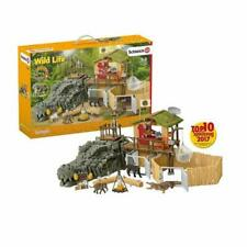 Schleich Wild Life Croco Jungle Research Station Playset 42350 NEW