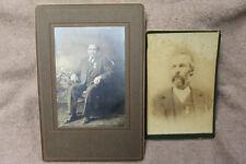 Two Original Photographs of U.S. Civil War & Spanish American War Era Veterans
