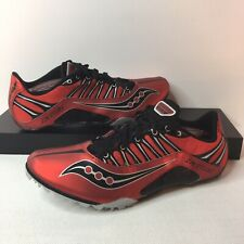 Saucony Velocity Spike Track Shoes Red and Black Men's Size 9 NEW