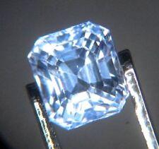 Blue Ceylon Sapphire 0.78ct Octagon 4.5x4.5mm Loose Natural Gemstone VS
