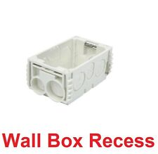 Recessed Plastic Wall Mounting Box For Switch Power Point Socket Plate Switches