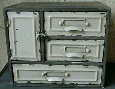 Shabby Chic industriale 3 Cassetti Armadietto in metallo Armadio Archiviazione stile vintage