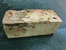 FF- FLAME BOX ELDER BURL  DELUXE KNIFE BLOCK/SCALES/ CALLS/ PEN BLANKS--F--C--4