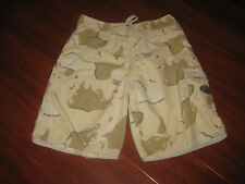 0a3bcfb71b69 Quiksilver Edition Beige Camouflage Board Swim Surf Shorts Size 32