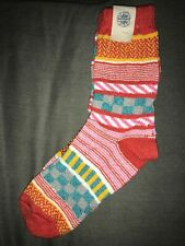 NWT Free People Mismatch Colorful Thick Socks One Size 9-11 Blue Multi