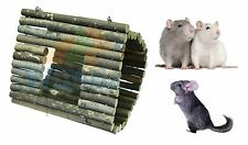 HAPPYPET LARGE PLAYSTIX HAMMOCK NATURAL WOOD CAGE CHEW TOY RAT CHINCHILLA 31082