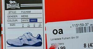 BNIB Mens Lonsdale Fulham Velcr/Hook &Loop Closure Trainers UK8