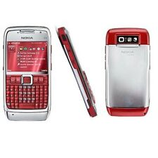 Red Original Nokia E71 Unlocked  Mobile Cell Phone QWERTY Keypad Wifi 3G 3.15MP