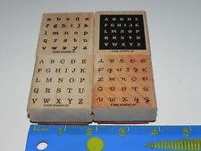 Stampin Up Alphabits Stamp Set of 4 (Alphabet Letters) Used Set