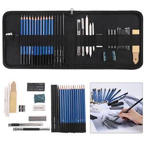 32PCS Professional Artist Pencils Set Drawing Sketching Art Kit For Adult Kids