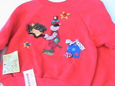 POGO STICK HORSE BOY SWEATSHIRT Kids size 4, fun novelty *OOAK  red HANES