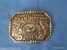 Award Clint Mortenson RANCH Rodeo Trophy Belt Buckle Team  Roper Roping