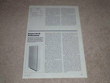 Boston Acoustics A-400 Speaker Review, 2 pgs, 1984,Info