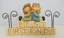 Best Friends - New resin block with two friends on it by Blossom Bucket #22727