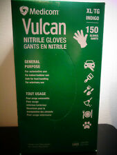 MEDICOM VULCAN NITRILE 150 GLOVES POWDER FAST SHIPPING NEW  XL