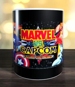 Marvel vs Capcom retro arcade game Marquee Mug