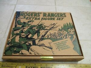 Barzso Playset 54mm Plastic Army Men Figure Soldier Rogers Rangers Extra Box Set