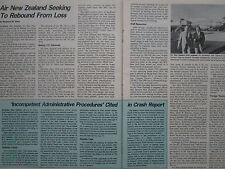 7/81 ARTICLE 3 PAGES AIR NEW ZEALAND AIRLINES AIRWAYS BOEING 747 737-200