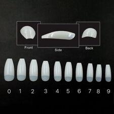 500 Pcs Long Ballerina Coffin Shape Half Cover False Nail Acrylic Nails Art Tip