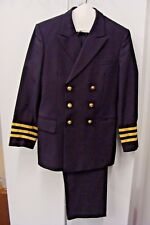 US Navy Black Officer  Dress Uniform Costume Professional Quality 3 PC