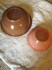 Vintage Pyrex Harvest Rainbow Mixing Bowls Clear Bottoms