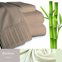 Bamboo Living Eco-Friendly 6 Piece Bedding Soft Sheet Set - King - Taupe