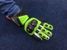 PROBIKER CHEAP LEATHER SUMMER SPORTS MOTORCYCLE GLOVES GREEN/BLACK - MEDIUM
