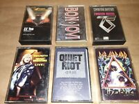 1980's Rock Various Artists Cassette Tapes(Lot Of 6)