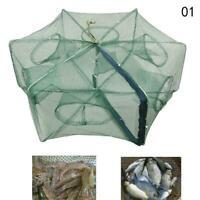 Automatic Fishing Nets 6 Hole Fishing Trap Folded Hexagon C4U8 Mesh Shrimp F2D9