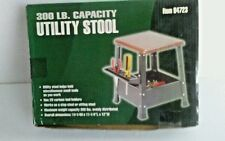 "Harbor Freight 300 lb Capacity Utility Stool/ 28 Tool Holders 14X11X12"" #94723"