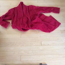 Victoria's Secret Heavy Duty Thick 100% Cotton Long Bath Robe Red Size Xs/S