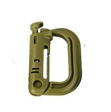 NEW - Grimlock Plastic Quick Lock MOLLE Karabiner Speed Clip - Desert Tan Colour