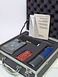 Oster Power Pro Ultra Kit- Blue Charger Extra Battery Box Clipper No 10