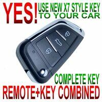X7 style flip key remote for 09-15 PILOT chip keyless entry fob clicker alarm