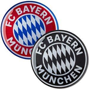 Aufkleber 3D FC Bayern München Logo Kunstharz Sticker Autoaufkleber Doming FCB