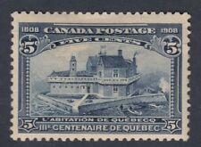 "Canada MINT OG Scott #99 5 cent Champlain's Habitation ""Quebec Tercentenary""  F"