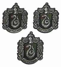 """Harry Potter Slytherin Shield 2 1/2"""" breit bestickt Aufbügelflicken Set 3"""