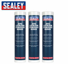 3pk Sealey SCS106 - EP2 Lithium COMPLEX Grease Cartridge - High Temperature 400g